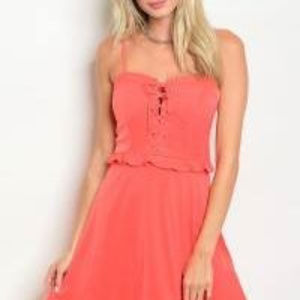 Cals, Women's, TOMATO LACE-UP DRESS